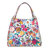 Large Floral Leather Tote Bag