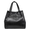 Large Black Python Shopper Bag
