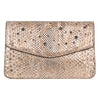 Silver and Gold Python Clutch With Swarovski Crystals