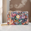 Snakeskin Butterfly Clutch  With Custom Swarovski Stone