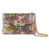 Rainbow Snakeskin Clutch With Custom Swarovski Stone