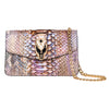 Iridescent Python Clutch with Snake Head