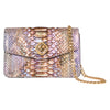 Iridescent Python Clutch With Custom Swarovski Stone