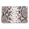 Natural Python Clutch With Custom Swarovski Stone