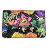 Custom Floral Black Python Clutch  With Custom Swarovski Stone