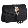 Black Python Clutch With Snake Head