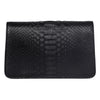 Black Python Clutch with Custom Swarovski Stone
