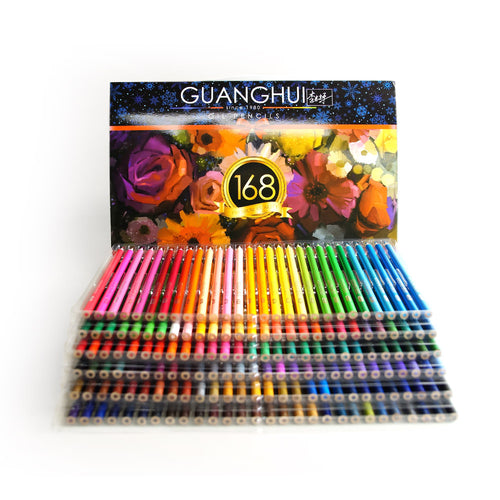 Hero 168 Colored Pencils Set for Adult Coloring Books