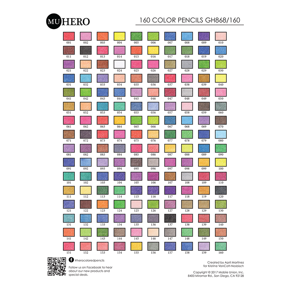 MUHERO 160 Color Chart