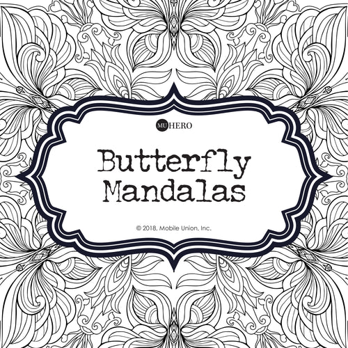 Coloring Book: Butterfly Mandalas