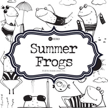 Coloring Book: Summer Frogs