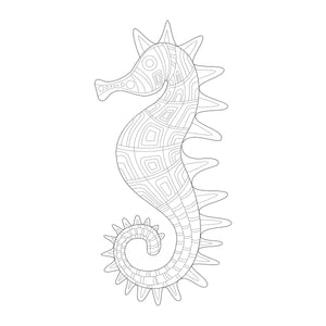Coloring Book: Underwater Zentangles