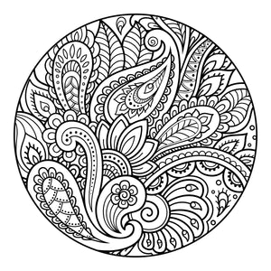 Coloring Book: Flower Circles