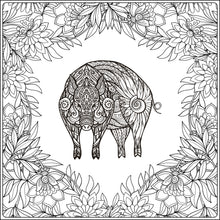Coloring Book: Farm Animals