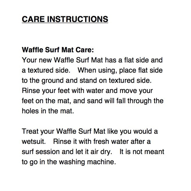 Surf Changing Mat