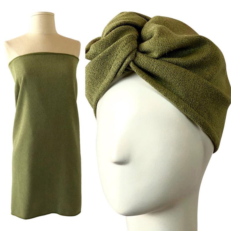 Body Towel & Hair Turban Set