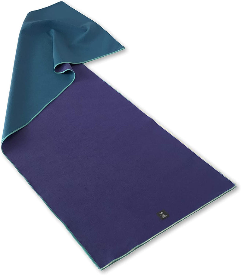 YogaRat Indigo Gummy Grip Yoga Towel