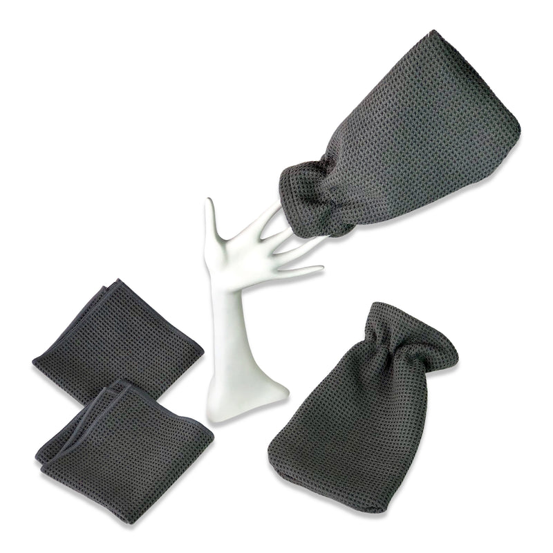 WaffleTuff Towel & Hand Mitts combo- 2 pack & 2 pack