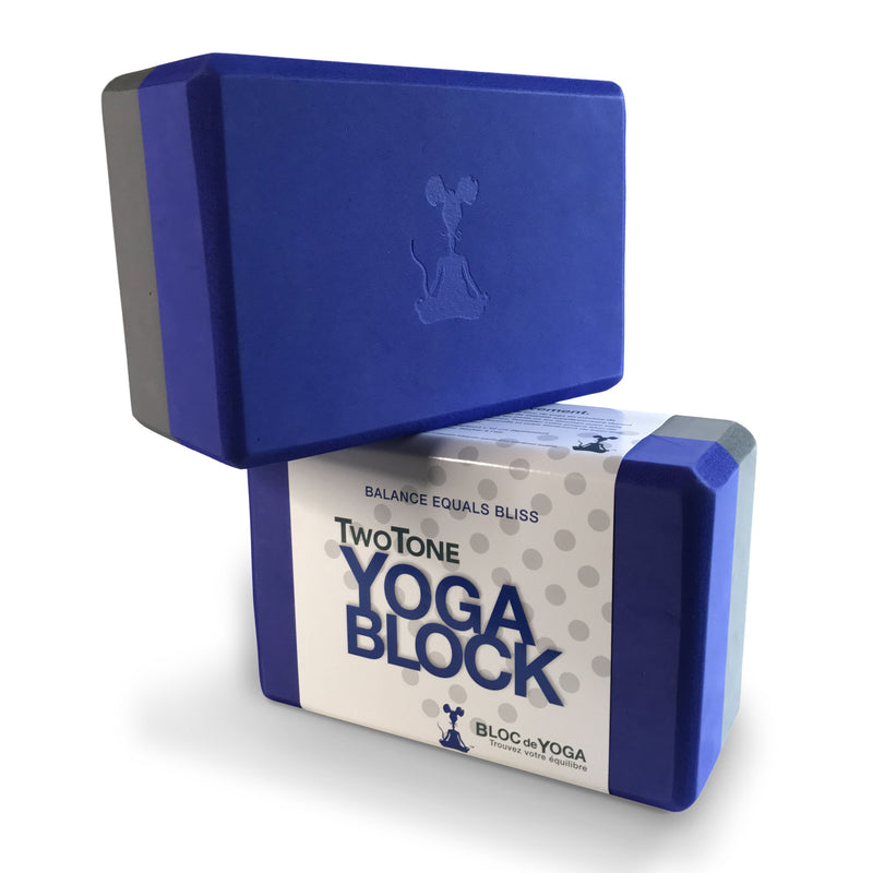 2 Block set of Two-Tone Yoga Block