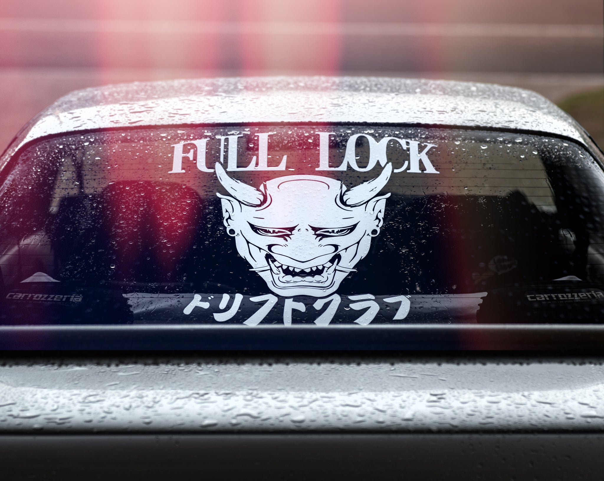 Oni mask die cut full lock collective