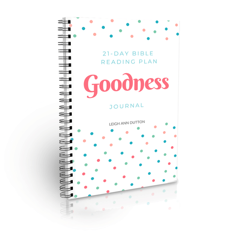 goodness topical bible reading plan journal
