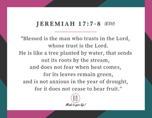 Bearing Fruit Topical Bible Reading Plan Journal