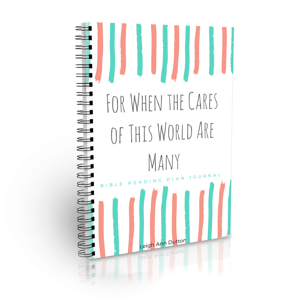 For When the Cares of This World Are Many Bible Reading Plan Journal