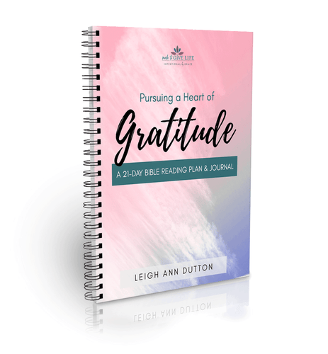 Pursuing a Heart of Gratitude Bible Reading Plan Journal (Digital)