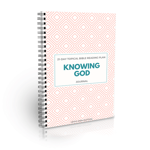 Importance of Knowing God Bible Reading Plan Journal