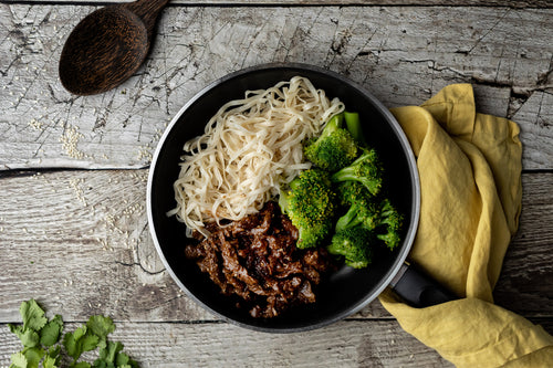 BEEF & BROCCOLI NOODLE BOWL