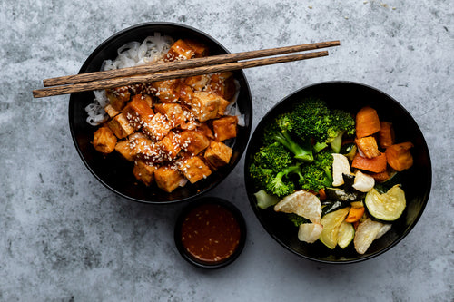 GARLIC & SESAME TOFU BOWL