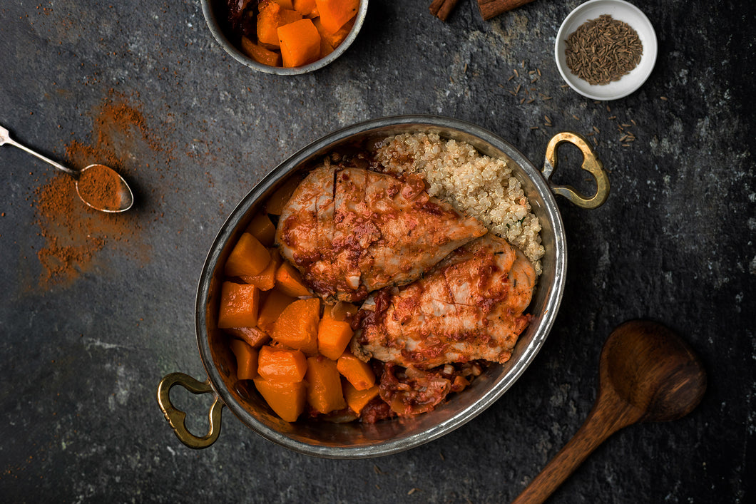 CHICKEN TAGINE & ROASTED BUTTERNUT SQUASH