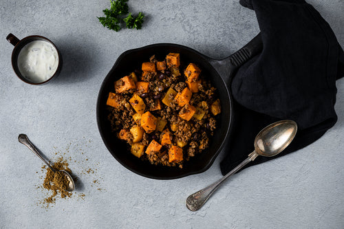 SWEET POTATO BEEF HASH