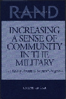 Increasing a Sense of Community in the Military: The Role of Personnel Support Programs