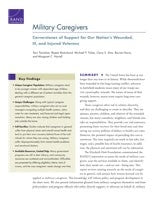 Military Caregivers: Cornerstones of Support for Our Nation's Wounded, Ill, and Injured Veterans