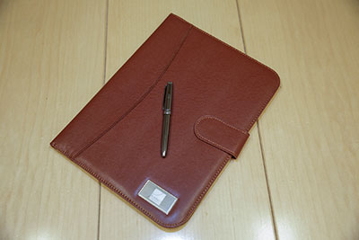 Personalized Brown Padfolio