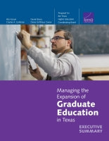 Managing the Expansion of Graduate Education in Texas: Executive Summary