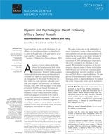 Physical and Psychological Health Following Military Sexual Assault: Recommendations for Care, Research, and Policy