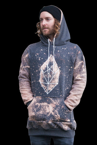 Screef Dark Grey Splatter Hoodie