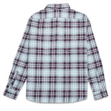 Mens Merlot Flannel Long Sleeve