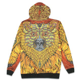 Phil Lewis Bear Face Reversible Zip Up Hoodie