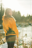 Gold Yellow Crossed Arrows Hoodie