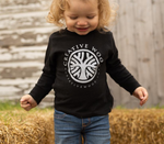 Black OG logo toddler longsleeve