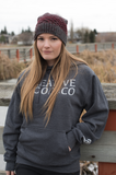 Creativewoodco basics Dark Heather grey hoodie