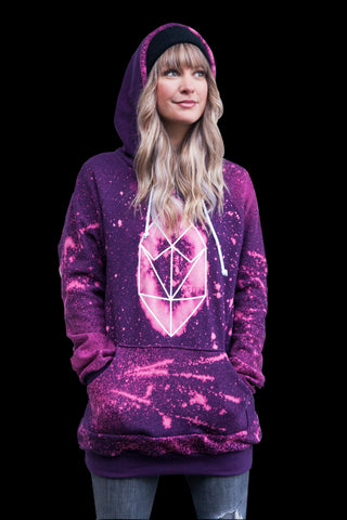 Screef Purple Splatter Hoodie