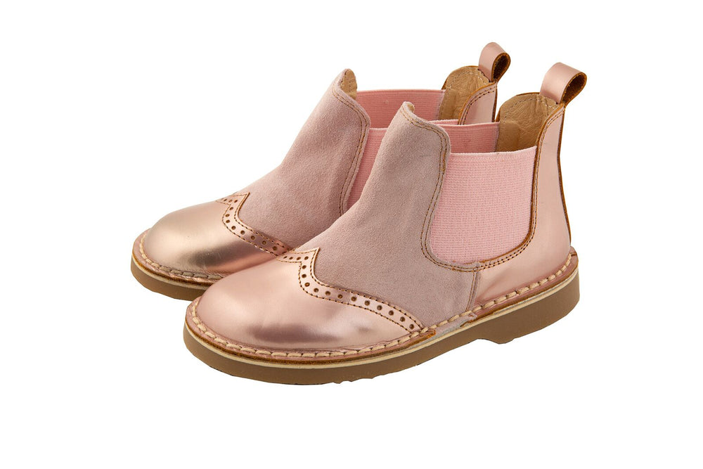 Rochy Metallic Pink Leather Chelsea Boot