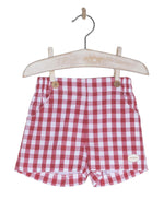 SS19 Cocote Boys Gingham Check Chino Shorts - dainty delilah spanish childrens wear