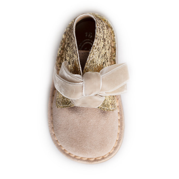 AW18 Rochy Gold Glitter Boots - dainty delilah spanish childrens wear