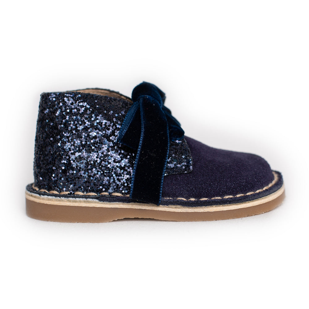 AW18 Rochy Navy Blue Glitter Boots - dainty delilah spanish childrens wear