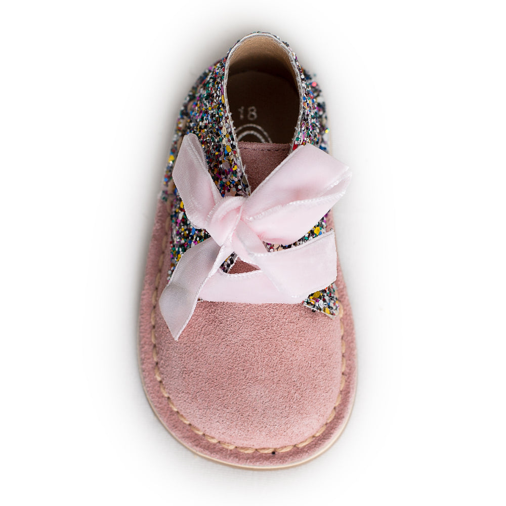 AW18 Rochy Pink Glitter Boots - dainty delilah spanish childrens wear
